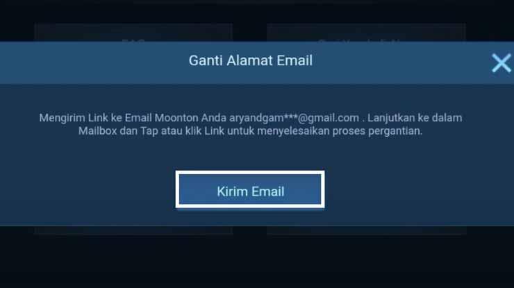 Tap Kirim Email