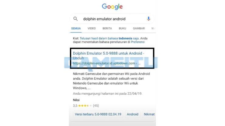 Buka Browser di Android 1