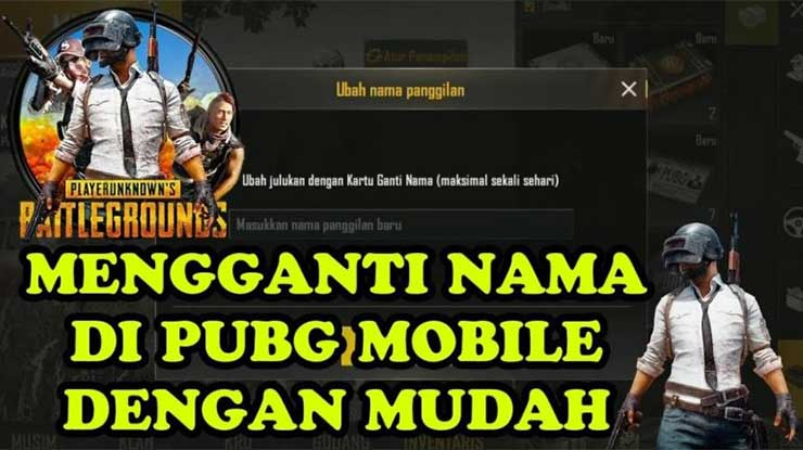 Cara Ganti Nama di PUBG Mobile Menggunakan Spasi