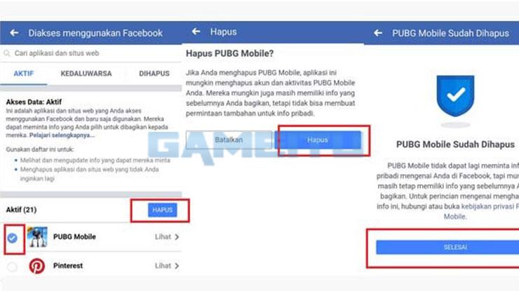 Hapus PUBG Mobile