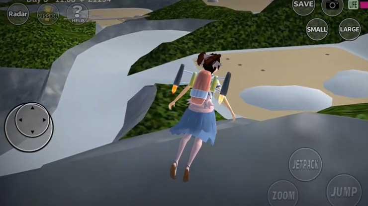 Kawah Berbahaya di Sakura School Simulator