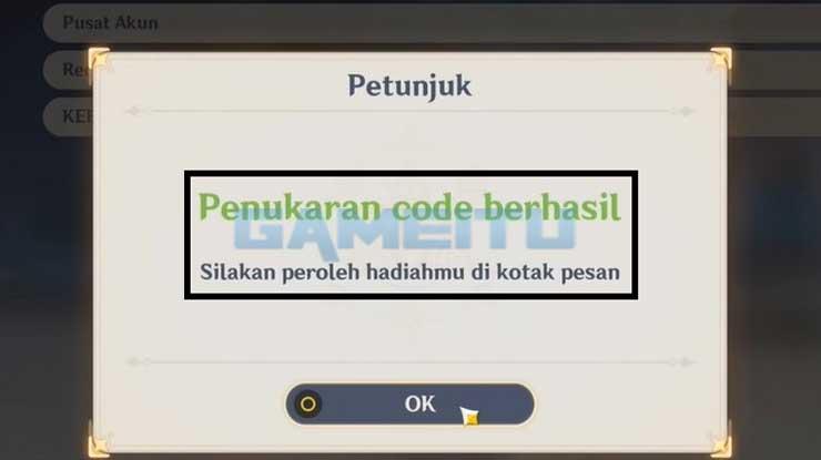 Klaim Kode Berhasil