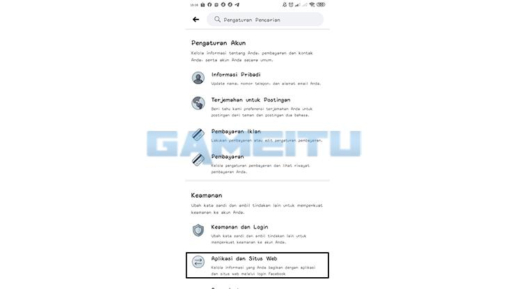 Klik Aplikasi Situs Web