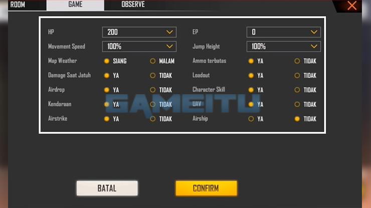 Lengkapi Data Tab Game