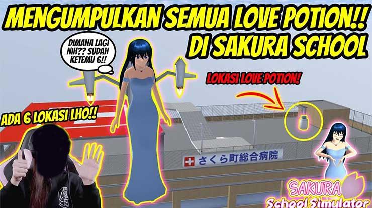 Lokasi Love Potion di Sakura School Simulator Gratis