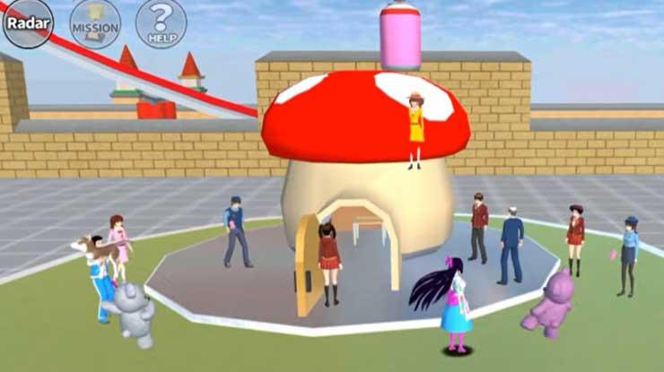 Rumah Kurcaci Sakura School Simulator