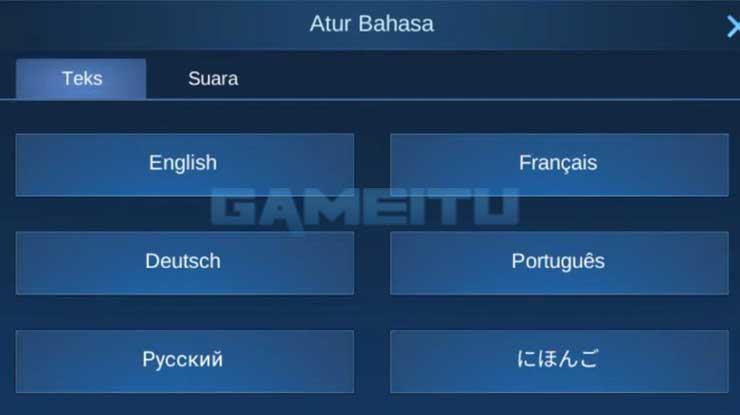 Mengganti Bahasa