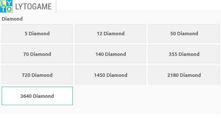 Limit Top Up Diamond FF di Lyto