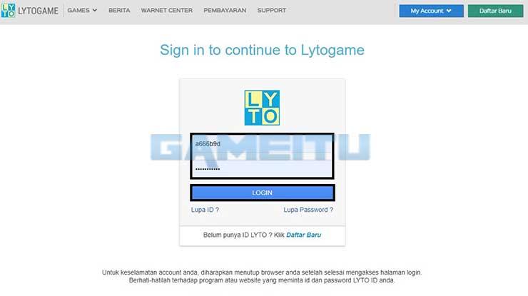 Login Lyto