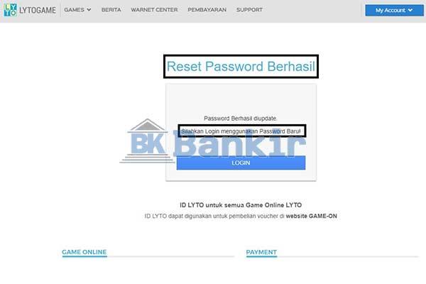 Lupa Password Berhasil Teratasi