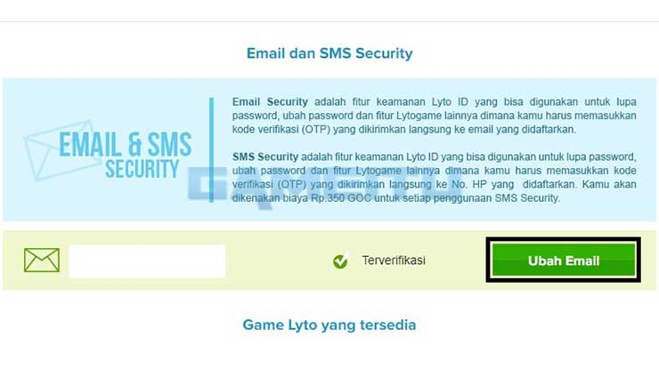 Pilih Ubah Email