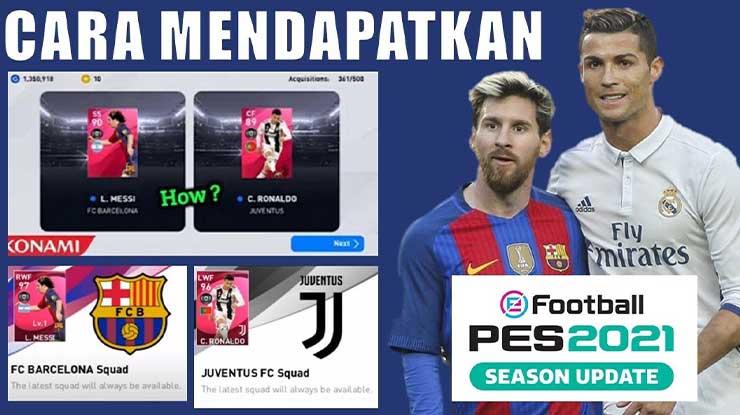 Cara Mendapatkan Iconic Lionel Messi di PES Mobile 2021