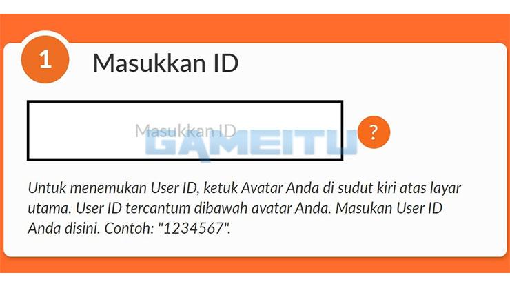 Input ID Pengguna