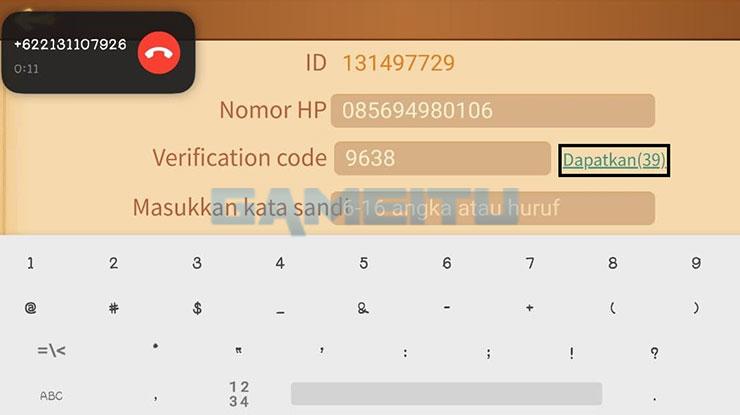 Minta Kode OTP