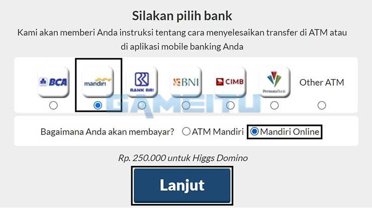 Pilih Bank