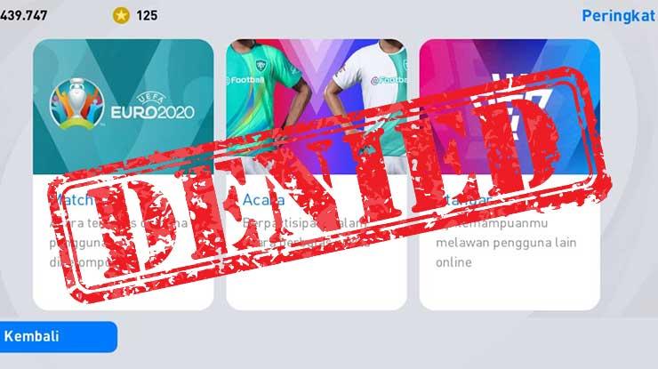Tidak Bisa Buka Event Matchday PES Mobile Begini Solusinya