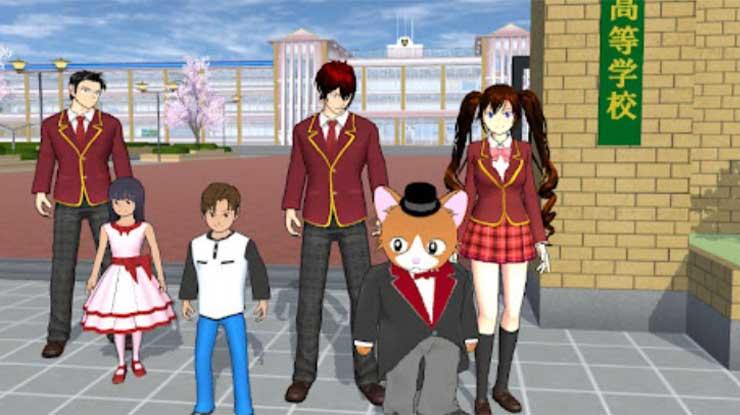 Cara Menggunakan Karakter Lain di Sakura School Simulator