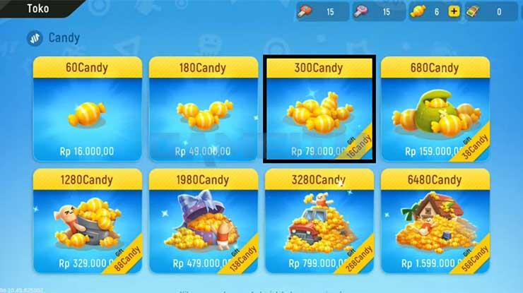 Pilih Jumlah Candy