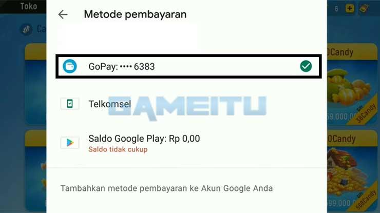 Pilih Metode Pembayaran Pakai GoPay