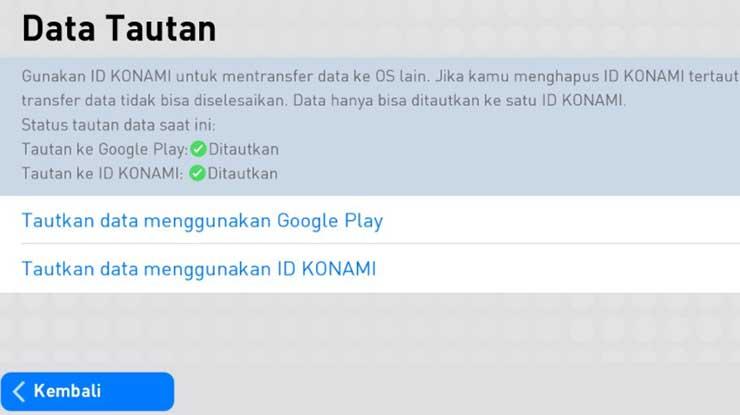 Syarat Update Email Akun eFootball PES 2021 Mobile