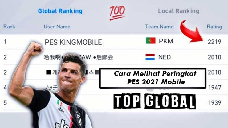 Cara Melihat Peringkat di PES 2021 Mobile