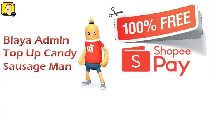 Biaya Admin Top Up Sausage Man Pakai ShopeePay