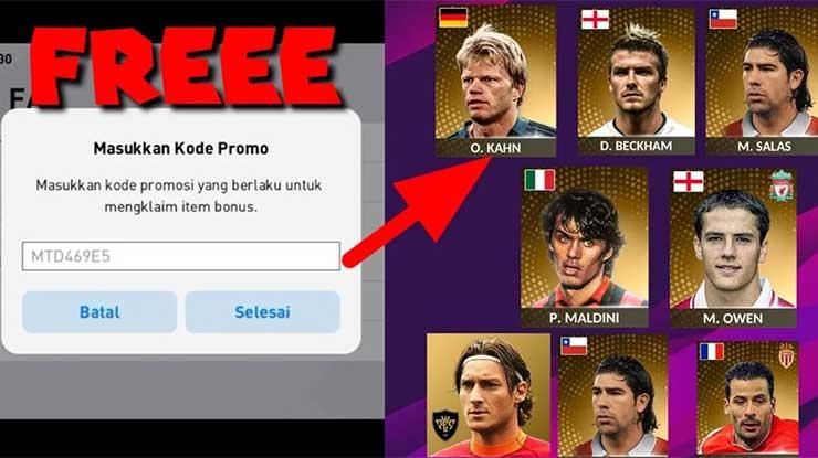 Cara Klaim Kode Promo eFootball PES Mobile