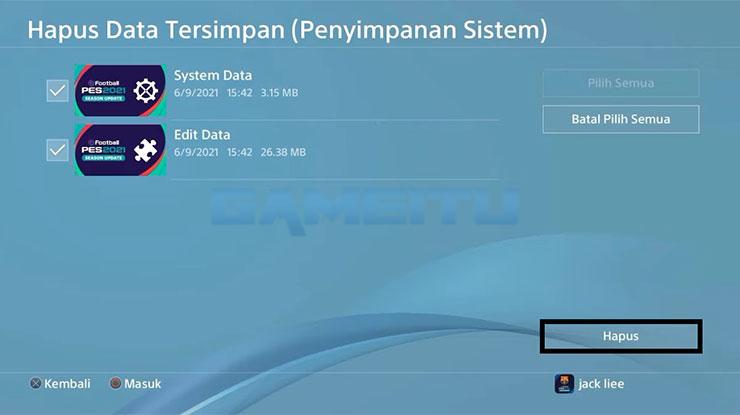 Hapus Sistem Data Edit Data