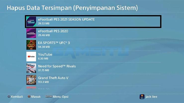 Klik eFootball PES 2021 Season Update