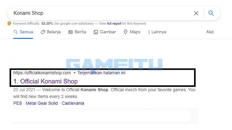 Kunjungi Situs Offiicial Konami Shop