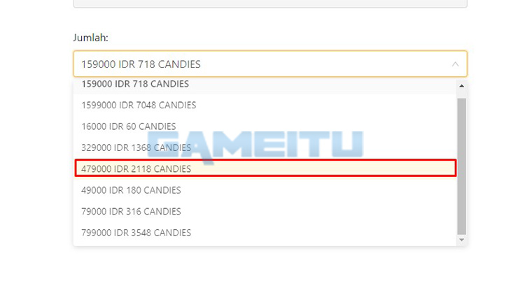 Tentukan Nominal Candy